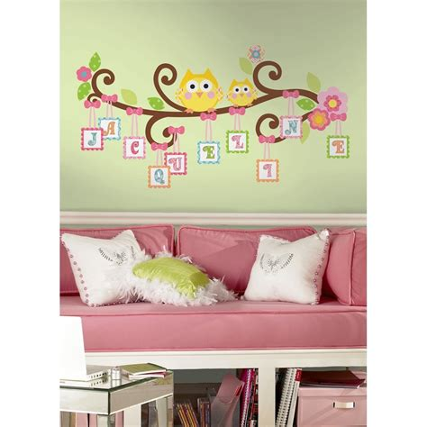 Wall Letter Decals For Nursery New Scroll Tree Letter Branch Wall Decals Baby Nursery Stickers Owl Decor Ebay