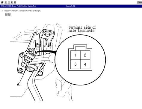 honda accord brake light switch 98 honda accord ex v6 automatic cruise light on dash on