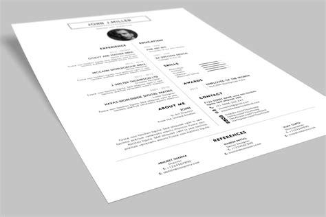 simple resume template psd free simple minimal layout resume cv design template