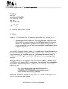 sle rfp response cover letter the letter sle