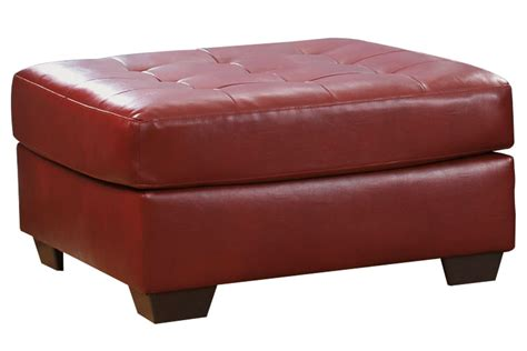 Salsa Bonded Leather Oversized Ottoman At Gardner White