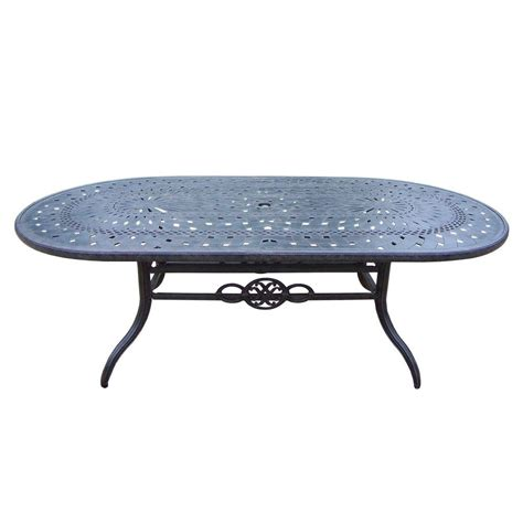 oval aluminum patio table oakland living belmont aluminum oval patio dining table