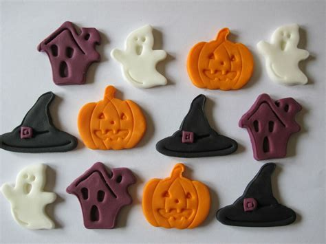 large mixed sugar edible halloween cupcake toppers cake decorations ebay