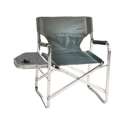 coleman folding chair with side table coleman folding deck chair with side table andcup holder