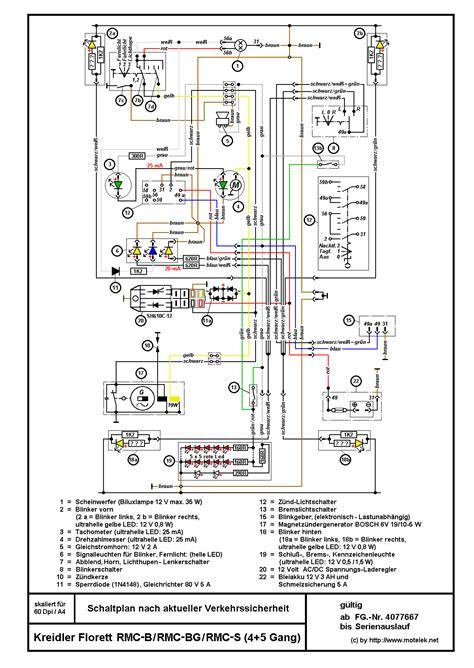 Motorrad Schaltung Geht Nicht by Schaltplan F 252 R Rmcs Elektrik Marken 252 Bergreifend