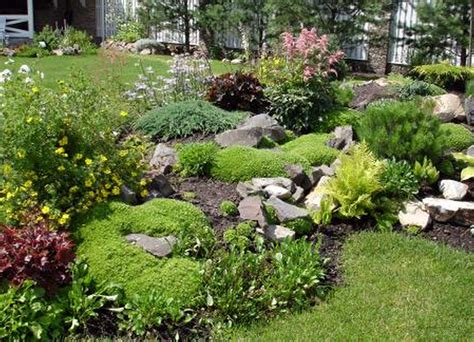 simple rock garden ideas for small gardens size front