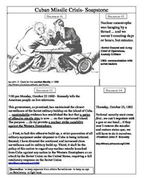 Cuban Missile Crisis Worksheet by 27 Best Images About 4 176 Eso Cold War On
