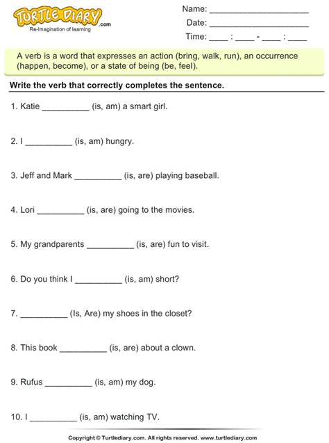why should verbs be used in writing a resume choose the correct form of the verb to be am is are
