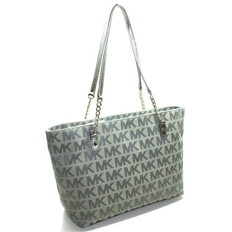 Mk New Tote Set 8880 michael kors jet set chain mk signature jacquard tote