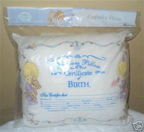 precious moments pillow precious moments baby birth certificate