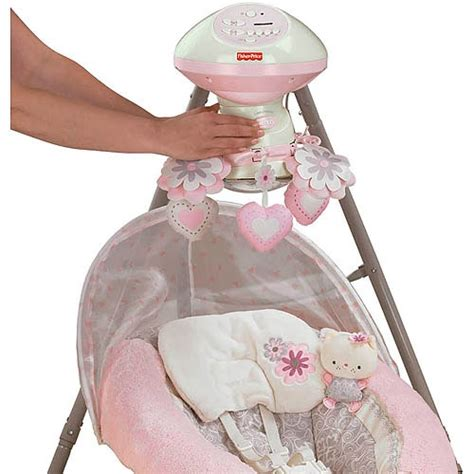 pink fisher price swing fisher price my little sweetie deluxe cradle swing pink