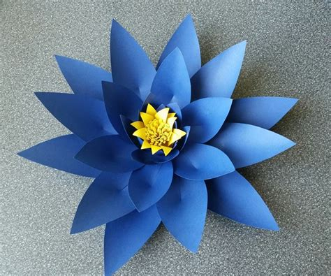 Flower Paper Craft Template - how to make paper flower free templates