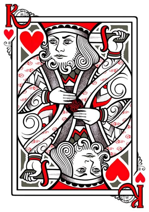 king of hearts tattoo designs cards cliparts co
