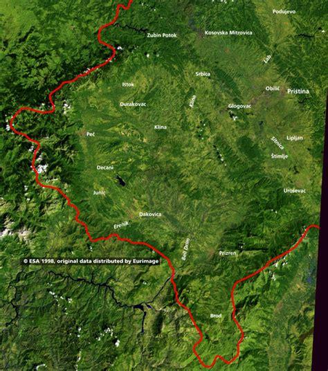 maps kosovo satellite kosovo map