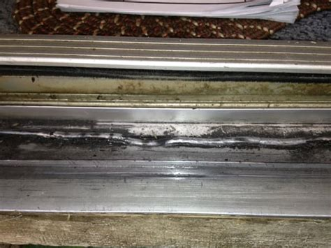 This Sliding Glass Door Track Is Damaged Beyond Repair And Sliding Glass Door Track Repair