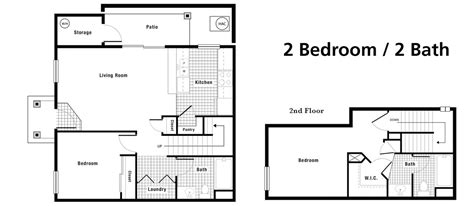 two bed two bath floor plans bath house plans plan small bedroom houseplan cabin the