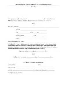 Self Storage Rental Agreement Template by Storage Rental Template Forms Fillable Printable