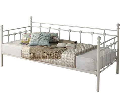 Buy Collection Abigail Metal Single Daybed Frame White Single Bed Frame Argos