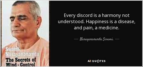 discord quote plugin narayanananda swami quote every discord is a harmony not