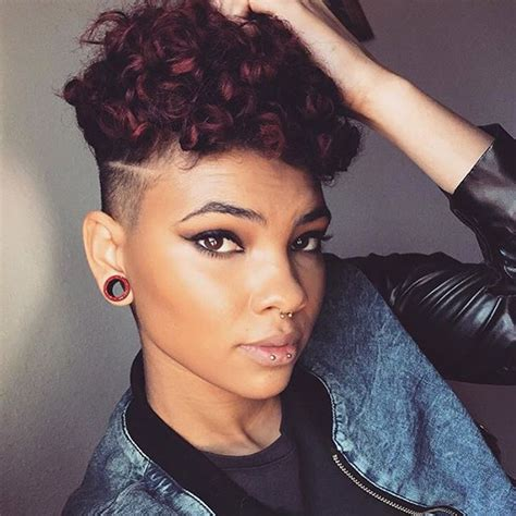 hair under cut with tapered side 80 cool short haircuts for black women best in 2016
