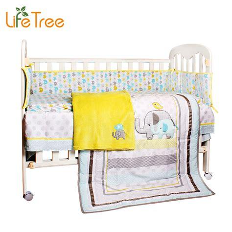 8pcs Cotton Crib Bedding Newborn Baby Bedding Set Cartoon Cotton Crib Bedding
