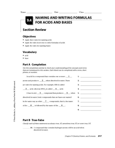 all worksheets 187 chemistry worksheets for grade 9