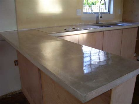 cement countertops kitchen concrete countertops poured sink with faucet