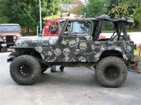 Camo Jeep Skull Camo On A Jeep Swagtastic Paint