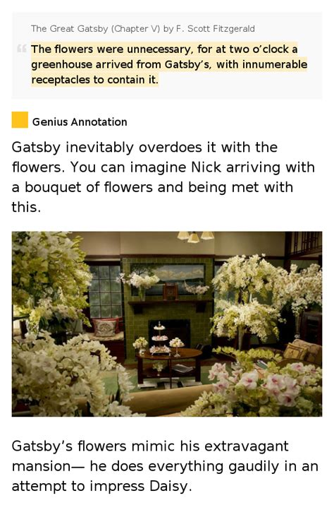 flower symbolism in the great gatsby the flowers were unnecessary for the great gatsby
