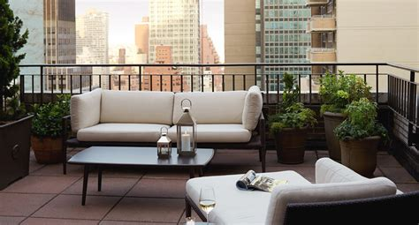 Nyc Hotel With Balcony Terrace Suite The Benjamin | luxury suite nyc hotel with terrace the benjamin