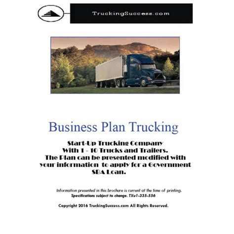 business plan template for trucking company sle trucking business plan eassyforex x fc2