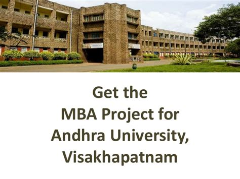 Mba Related In Vizag by Get The Mba Project For Andhra Visakhapatnam