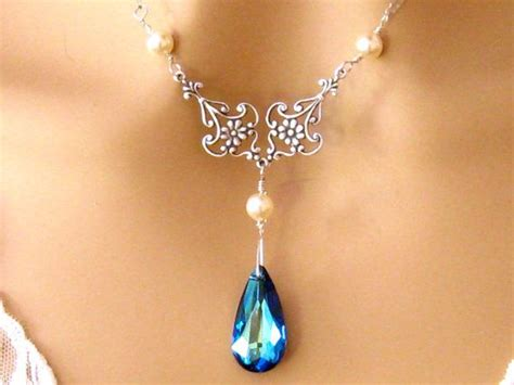 Bros Swarovski Orchid Bermuda Brooch By Vertere blue bridesmaids necklace by martywhitedesigns 47 50 dorsey hankins