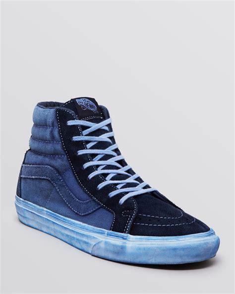 high top vans sneakers vans sk8 high top reissue ca sneakers in blue for lyst