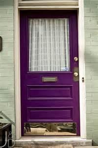 purple front door 26 bold front door ideas in bright colors shelterness
