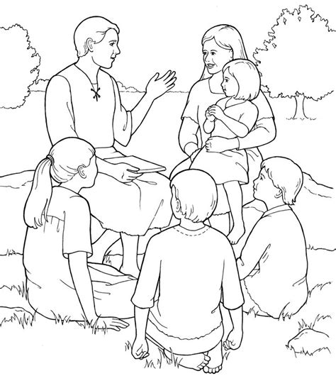 45 Best Images About Lds Primary Coloring Pages On Pinterest Lds Coloring Pages Family