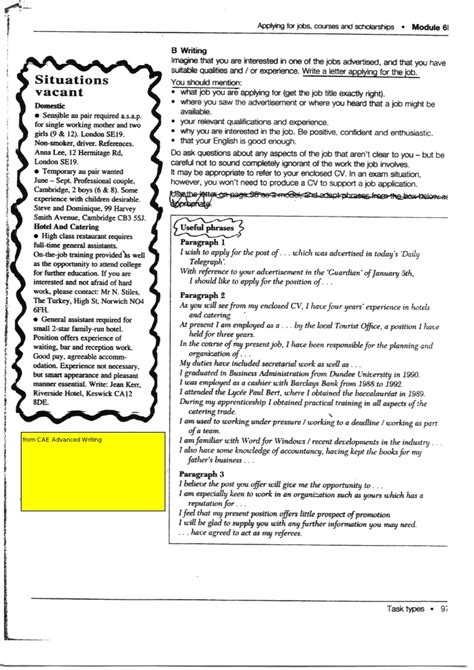 Application Letter Useful Phrases Application Useful Phrases