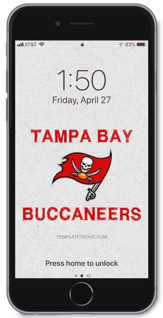 tampa bay buccaneers lock screen schedule  iphone