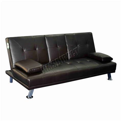 faux leather sofa bed ebay faux leather manhattan sofa bed recliner 3 seater modern