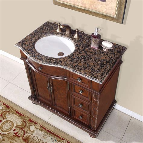 Bathroom Vanity Sinks 36 Perfecta Pa 138 Bathroom Vanity Single Sink Cabinet Chestnut Finish Granite