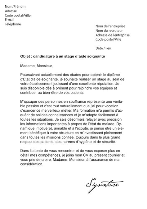 Lettre De Motivation De Els Lettre De Motivation Candidature Spontanee Aide Soignante
