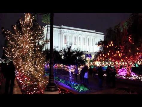 downtown mesa christmas lights mesa temple christmas lights youtube