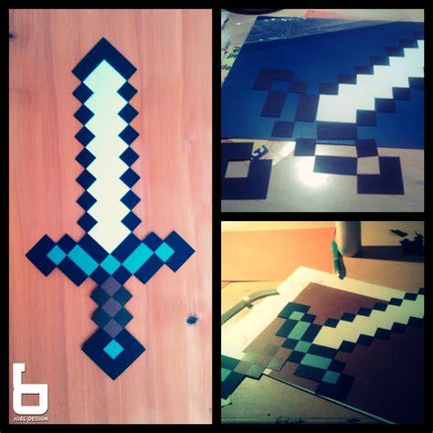 How To Make A Origami Minecraft Sword - minecraft paper sword by joel design on deviantart