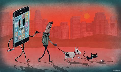 Technology Detox Illustrations by Satirical Illustrations Show We Live In A World Addicted