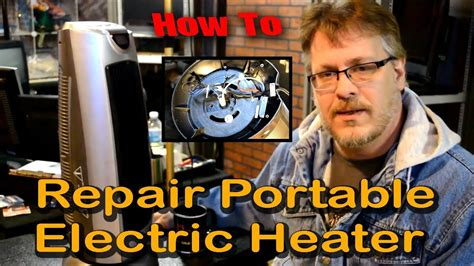 repair  portable electric space heater youtube