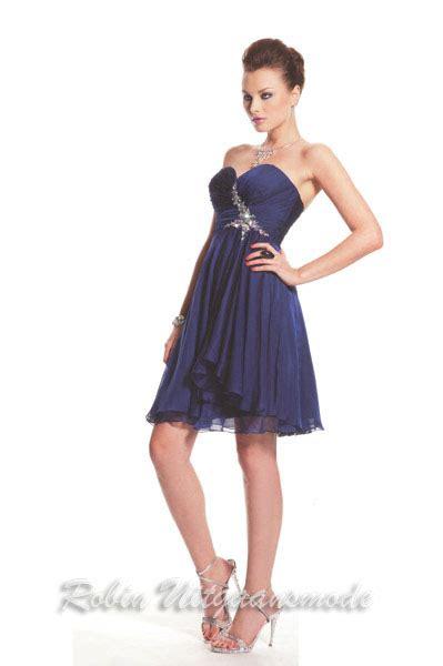 blauwe coctail jurk galajurk kort blauw
