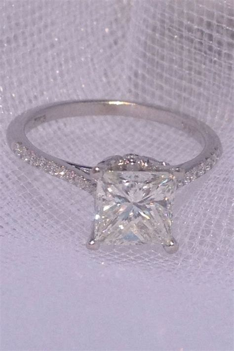 the 25 best princess cut engagement rings ideas on