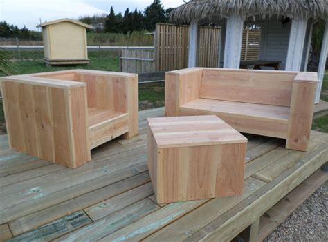 meuble de jardin bois mobilier de jardin bois