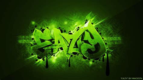 graffiti wallpaper green eazy graffiti desktop background by mikodzn on deviantart
