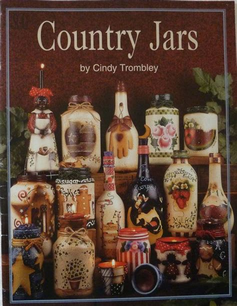 learn decorative painting country jars by cindy trombley tole painting book for